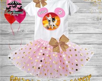 2nd Birthday Tutu Outfit, Bolt Birthday Outfit, Birthday shirt, Tutu Set (gt582)