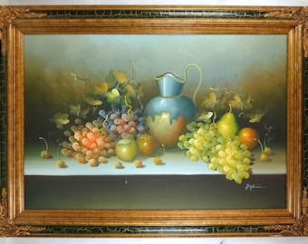 Still life oil painting in Frame