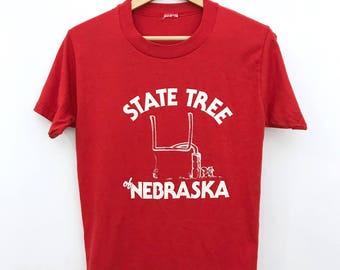 Vintage 80's Nebraska Football T-Shirt