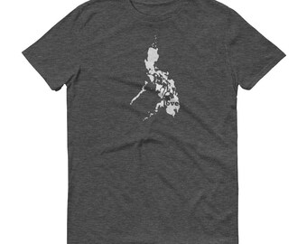 Philippines, Philippine Clothing, Philippines Shirt, Philippines T Shirt, Philippines TShirt, Philippines Map, Philippine Gifts, Made