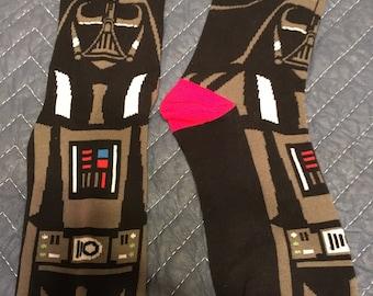 Darth Vader Anakin Skywalker star wars socks super high quality stitch the force last jedi