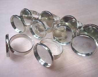 10 blank ring cabochon 16mm