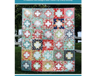 Outlined Plus - a Digital pdf Quilt Pattern - 5 sizes - Baby, Lap, Twin, Queen, and King Sizes