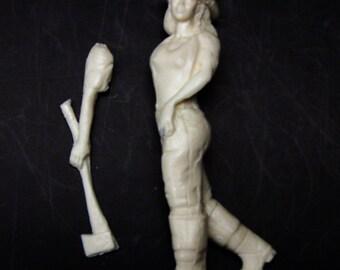 1:25 G scale model resin female firefighter figure fire truck