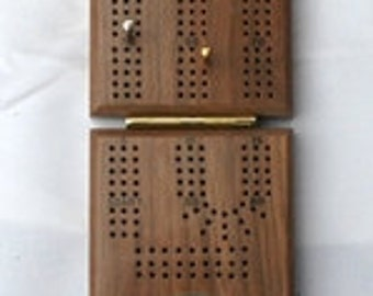 Walnut-Folding Cribbage Board