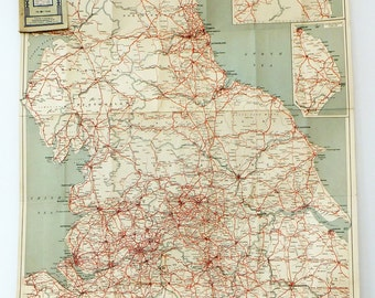 England map, Huge Map of England, Very Big Geographia Road Touring Map, Sheet No. 4, map poster