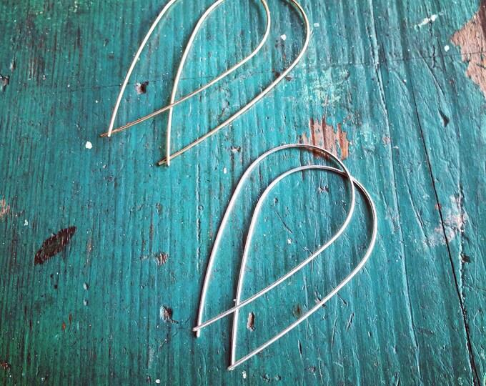 Gold twist earrings - lightweight hoops