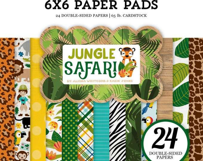 Echo Park Paper JUNGLE SAFARI 6x6 Scrapbook Paper Pad