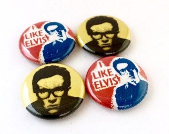 Elvis Costello 1inch Pinback Button or Magnet