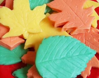 Leaf Soap Set - Fall Leaves, Soap Favors, Wedding Favors, Maple Leaf, Autumn Leaf Soap, Soap Leaves, Guest Bathroom Soap, Kids Soap, Soap