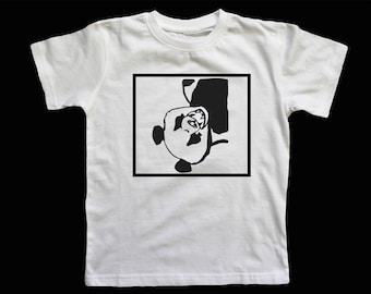 Upside Down Spade Panda T Shirt