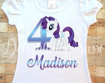 Rarity Shirt, My Little Pony Shirt, MLP Birthday, MLP  Rarity Shirt, Personalized Shirt, My Little Pony, Personalized Birthday Shirt