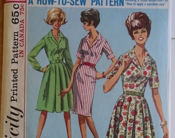 Simplicity  Shirtdress Pattern Size 16