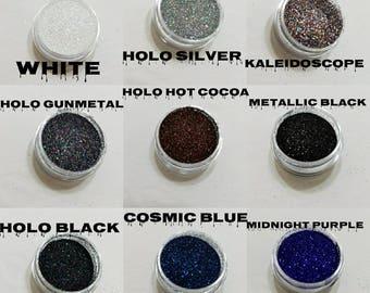Ultra Fine cosmetic grade Holographic/metallic glitter 2-100Grams