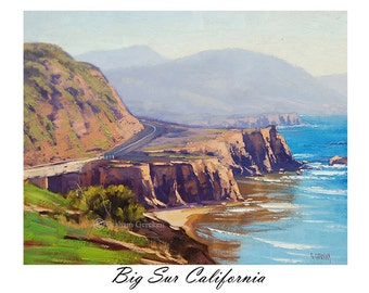 Printable art wall art prints from my Original Oil Painting Big Sur California