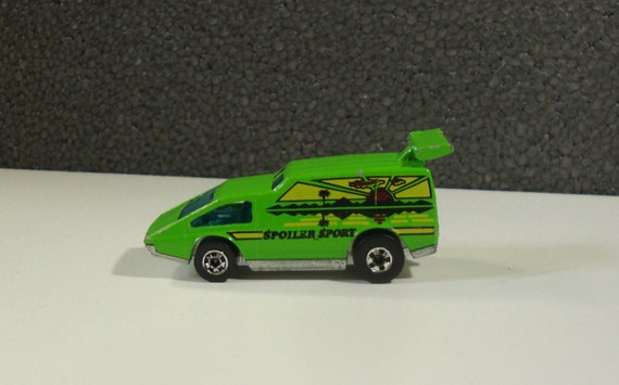 1977 Hot Wheels Blackwall Lime Green Spolier Sport Toy Car
