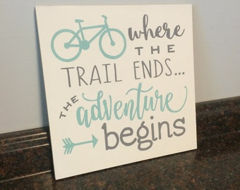 adventure nursery bike nursery bicycle nursery wall decor wood sign bicycle enthusiast gift graduation gift baby shower gift