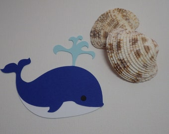 Whale Die Cut Embellishments 6 piece set, Scrapbooking, Card making, Decorations, craft projects