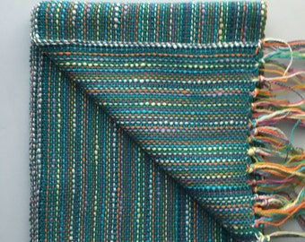 Dark Teal Scarf Woven Scarf