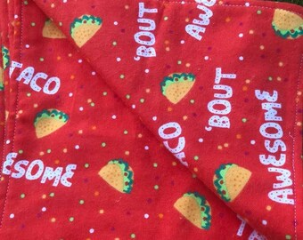 6 Pack Taco Bout Awesome Burp Rag