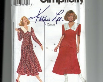 Simplicity Misses' Two- Piece Dress Pattern 9185