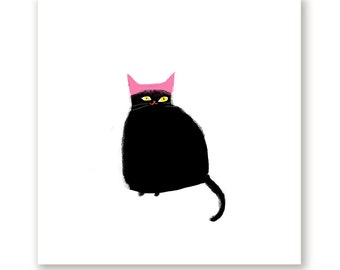 Women's March Cat Print - Pink Hat Cat - Equality for All - Protest Art