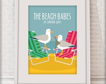 The Beach Babes of Canford Cliffs, Sandbanks, Love Dorset collection