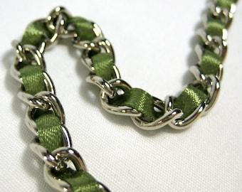 13 inch Nickel-free purse chain(TM) - Sage Green