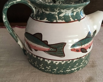 Vintage Shard fish teapot