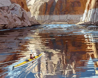 Lake Mead - National Recreation Area - Black Canyon Kayaker (Art Prints available in multiple sizes)