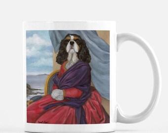 """Cavalier King Charles Spaniel, Dog Owner Mug, Large Coffee Mug, """"Tara"""""""