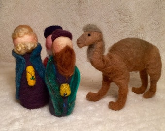 Kit: Needle Felted Nativity.... Kings and Camels