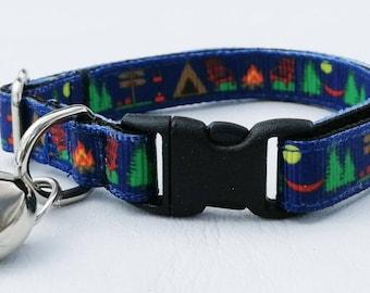 FLASH SALE!!! Happy Camper Cat Collar