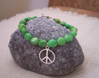 Peace is Green Bracelet....