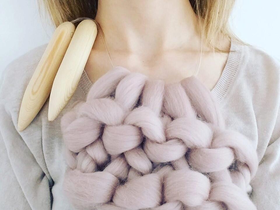 Giant knitting needles size 50 25mm diameter for chunky knitting ...
