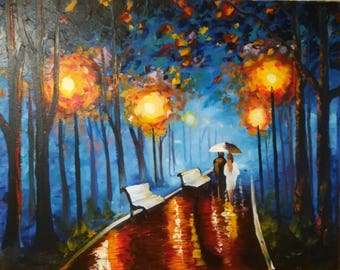 """Painting, canvas on stretcher, oil, """"based on the picture of Afremova"""""""
