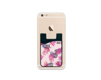 Monogram, Cell Phone Wallet, Custom Phone Wallet, Credit Card Holder, Stick on Card Holder, Mother's Day, Gift for Mom --62205-PWL1-603