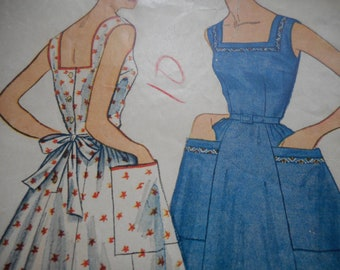 Vintage 1950's Simplicity 4713 Dress Sewing Pattern Size 16 Bust 34