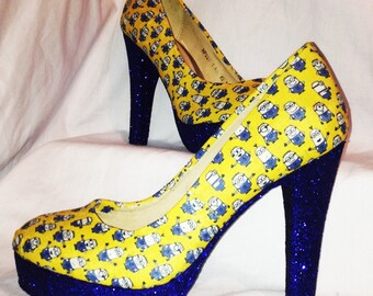 Minion heels / shoes * * * sizes 3-8