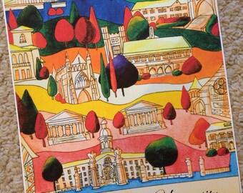 Personalized Princeton University Campus Artwork Painting / Print