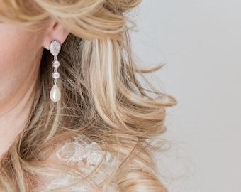 Bridal Earrings, Wedding Earrings, CZ Earrings, Wedding Jewellery