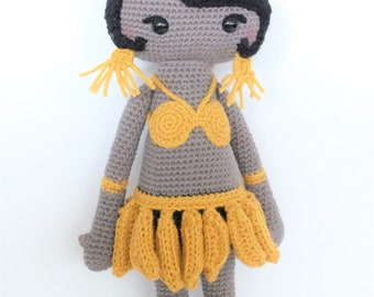 Joséphine Baker wool doll / Josephine Baker Doll Amigurumi