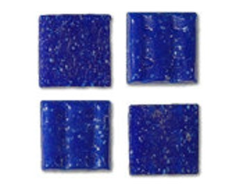 Dark Blue Glass Tile 20mm, Quantity of 50 Tiles, Mosaic Supplies