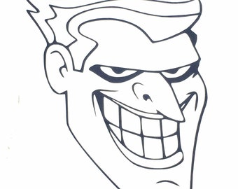 DIY Joker's Face Vinyl Decal. Choose Size, Choose Color, Laptop Decal, Car Window Decal, Tablet Decal, Cell Phone Decal, Glass Drinkware