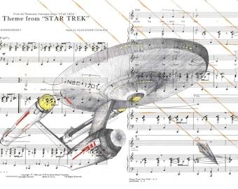 Star Trek TOS - Tholian Web - Original Series Enterprise Drawing 1970