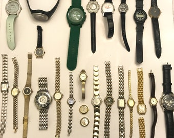 Vintage And Newer Watch Lot Broken Watch