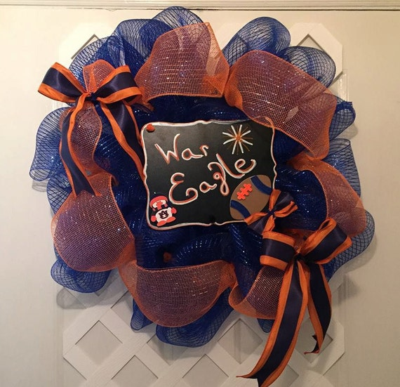 Auburn War Eagle Wreath - Auburn Tigers - War Eagle Wreath - War Eagle - Gus Bus - SEC Football - Collegeiate Sports - SEC Football - SEC