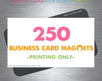 Mini business card printing 500 cards full color glossy or business card magnets 250 magnets fridge magnets full color glossy finish rounded corners reheart Choice Image