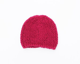 Knit baby hat, pink baby hat, girl baby hat, newborn hat, pink, baby hats, baby beanie, newborn girl hat, baby girl, baby girl hat