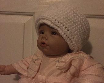 White Beanie Hat